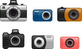 Digital cameras set 1 Royalty Free Stock Photography