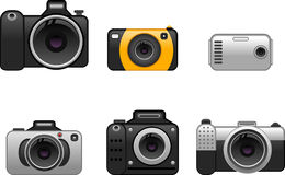 Digital cameras set 2 Royalty Free Stock Photos