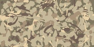 Digital camo background. Seamless camouflage pattern. Modern military texture. Desert grey and brown sand color. Vector fabric textile print designs royalty free illustration