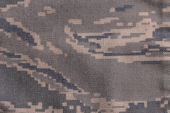 Digital camouflage fabric. US army acu digital camouflage fabric texture background Royalty Free Stock Photography