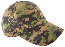 Digital camouflage hat isolated on white Stock Photos