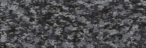 Digital camouflage multi scale pattern. Illustration of modern multi-scale camouflage pattern in army digital pixels stock illustration