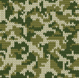 Digital camouflage pattern. Knitting seamless texture with Digital camouflage pattern Royalty Free Stock Photos