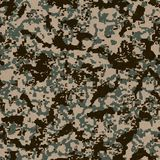 Digital Camouflage Pattern. Seamless Texture. Digital Camouflage Pattern (Desert Palette). Seamless Tileable Texture Stock Images