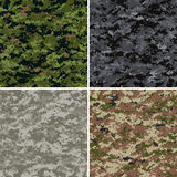 Digital camouflage patterns stock illustration