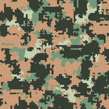 Digital camouflage seamless patterns Royalty Free Stock Image