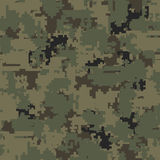 Digital camouflage seamless patterns Stock Photo