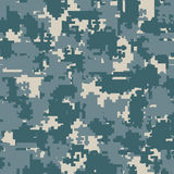 Digital camouflage seamless patterns. Digital pixel camouflage seamless patterns. Vector Texture Illustration  on white background Royalty Free Stock Photo