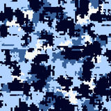 Digital camouflage seamless patterns. Digital pixel camouflage seamless patterns. Vector Texture Illustration  on white background Royalty Free Stock Photography