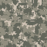 Digital camouflage seamless patterns. Digital pixel camouflage seamless patterns. Vector Texture Illustration  on white background Stock Photos