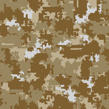 Digital camouflage seamless patterns Royalty Free Stock Photography