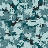 Digital camouflage seamless patterns Stock Photo