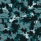 Digital camouflage seamless patterns Royalty Free Stock Photos