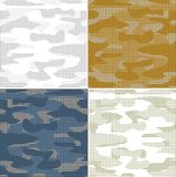 Digital camouflage seamless patterns - set. vector illustration