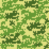 Digital camouflage seamless patterns Royalty Free Stock Images