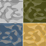Digital camouflage seamless patterns - vector set Royalty Free Stock Photo