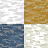 Digital camouflage seamless patterns - vector set Royalty Free Stock Images