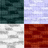 Digital camouflage seamless patterns - vector set Stock Image