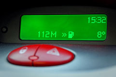 Digital car mileage clock royalty free stock photography