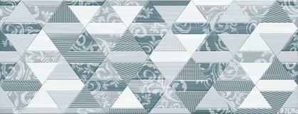 Digital ceramic tile design. Colorful ceramic wall tiles decoration Stock Photos