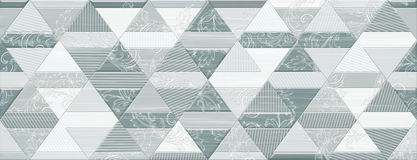Digital ceramic tile design. Colorful ceramic wall tiles decoration Royalty Free Stock Photography
