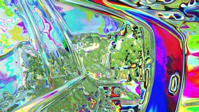 Digital CGI composite image of multiple liquid parts. Forming abstract conceptual motion stock illustration