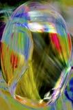 Digital changée, micrographe abstrait de soie d'araignée d'un Web Photographie stock