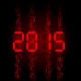 Digital 2015 chiffres Image stock