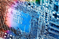 Digital chip. Royalty Free Stock Photography