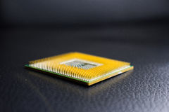 Digital chip-set motherboard with processor chip Stock Image