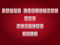 Digital Christmas and New Year 2013 Stock Image