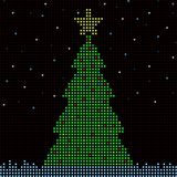 Digital Christmas tree Royalty Free Stock Photos