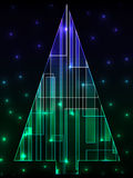 Digital_christmas_tree Royalty Free Stock Photos