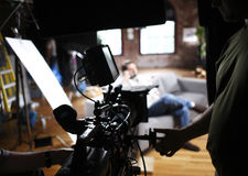 Digital Cinema Camera Stock Photo