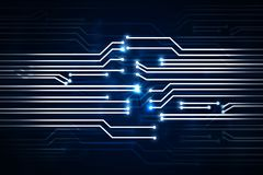 Digital circuit backdrop. Abstract digital circuit backdrop. Technology concept. 3D Rendering Royalty Free Stock Image