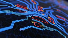 Digital Circuit Board Abstract Background Royalty Free Illustration