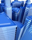 Digital City from Above Royalty Free Stock Photography