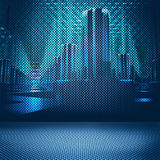 Digital city background Royalty Free Stock Photo