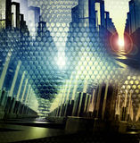 Digital city background Royalty Free Stock Image
