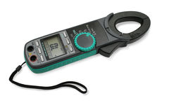 Digital clamp meter. stock photography
