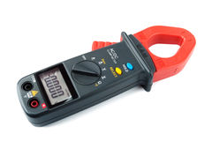 Digital clamp meter isolated Stock Photos