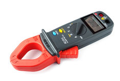 Digital clamp meter isolated Royalty Free Stock Image