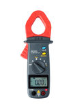Digital clamp meter isolated Royalty Free Stock Photo