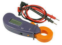 Digital clamp meter with plobes Royalty Free Stock Photos