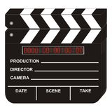 Digital Clapboard. Digital Movie Clapboard on White Background Stock Image