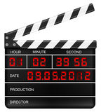 Digital clapper board Stock Photo