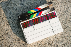 Digital clapper board Stock Photography
