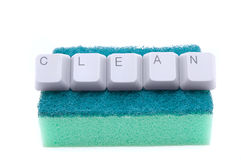 Digital cleaning Royalty Free Stock Photography