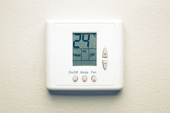 Digital climate control Royalty Free Stock Photo