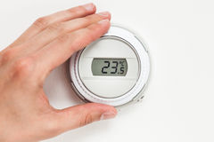 Digital climate thermostat Royalty Free Stock Photography